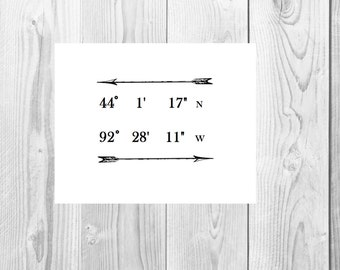 Latitude Longitude printable artwork
