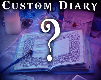Custom Book of Shadows /  Request Your Own Unique Customized Handmade Journal / Personalized Grimoire Diary / Design Your Own Spell Book