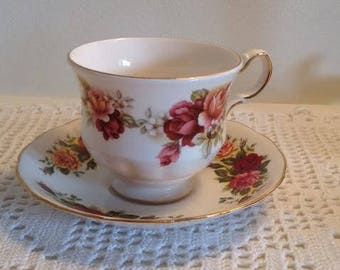 Royal Vale Queen Anne Teacup and Saucer - 1960s