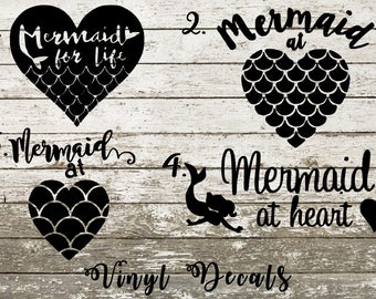 Mermaid Scales Decal Etsy