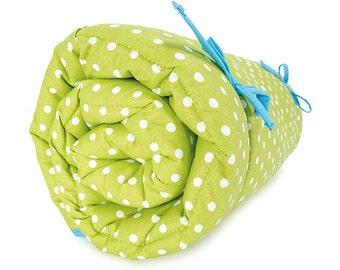 Krabbel-, JUREK dots lime baby blanket