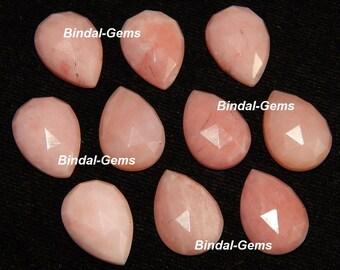25 Pieces Wonderful Lot Natural Pink Opal Pear Shape Rose Cut Loose Gemstone