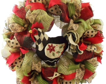 Country Rooster Wreath