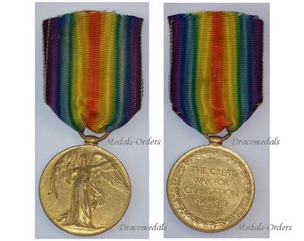 Britain WW1 Victory Interallied Military Medal RA Royal Artillery WWI 1914 1918 British Decoration Great War