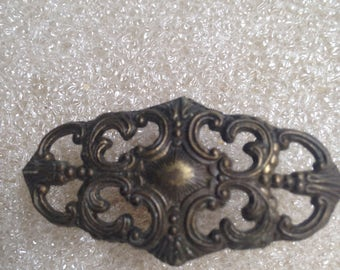 Victorian Brass Cabinet/Drawer Pull Great Vintage Filigree Style