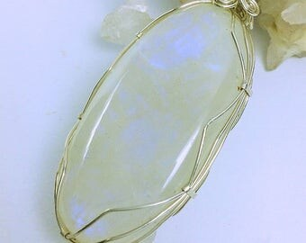 Moonstone in silver wire