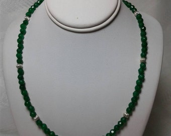 Green emerald necklace.