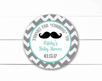 Little Man Mustache Baby Shower Favor Tag- Printable/DIY