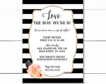 Business Event Invitation | Beauty Skin Care Event Invitation - Printable/DIY