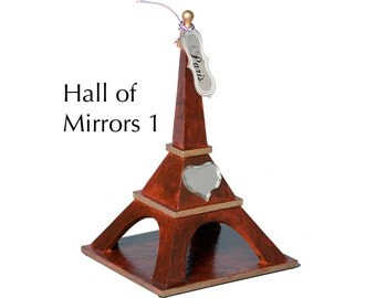 """Eiffel Tower - """"Hall of Mirrors 1"""" - Faux woodgrain painting and staining with decorations"""