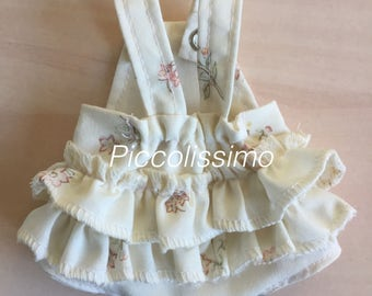 """sewing pattern - 9"""" frilly dungaree"""