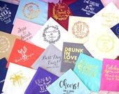 Personalized Napkins, Custom Napkins, Event Napkins, Wedding Napkins, Party Napkins, Birthday Napkins, Rehearsal Dinner, Bridal Shower