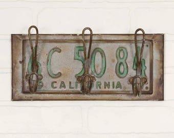 License Plate Three Hook Rack