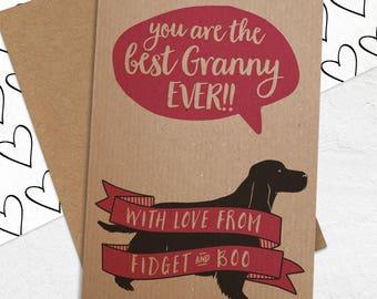 Best Grandma/Nanny/Nan etc card with ANY Dog Breed