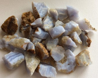 Blue Lace Agate, Natural, Raw, Rough Stone, Calming, Healing Stone, Healing Crystal, Chakra Stone, Spiritual Stone