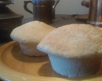 Fake Corn Bread Muffins (6) Looks very realistic - Farmhouse, Primitive, Country Home Decor