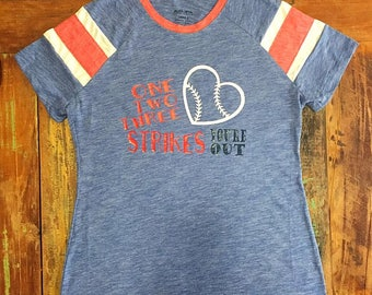 One, Two, Three Strikes Tee