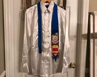 "A ""SUPER"" 1996 Superman Close Up Men's Necktie by DCComics Ralph Martin"