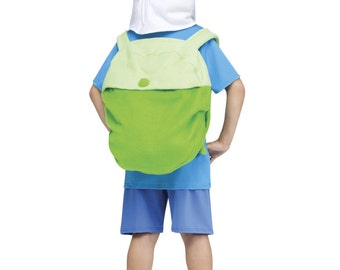 Adventure Time Finn Hat Backpack Set bag jake costume Cap halloween cosplay