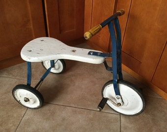 Antique Trike, Or the perfect little Rolling Side Table