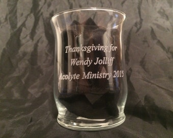 Custom Laser engraved candle holders...FREE ETCHING