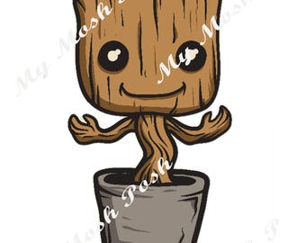 I am Groot Digital Image Iron on transfer