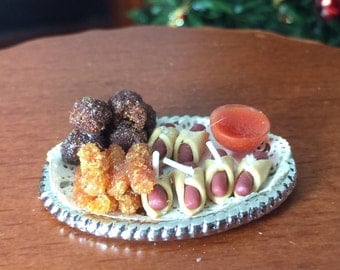Holiday Appetizers for Your Dollhouse Festivities in 1/12th Scale