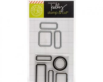 Hero Arts Clearly Kelly - KELLY's LABELS Stamp & Cut set - tabs labels cutting die set DC180 cc02
