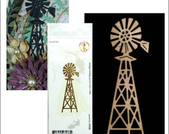 Windmill metal die - Cheery Lynn Designs cutting dies B664 for card making and scrapbooking