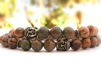Couple's Buddha bracelet set, Best Friend's bracelet, Yoga set of bracelets, Buddha bracelet, Mom Daughter's bracelet, Buddha family set
