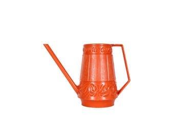Vintage Orange Plastic Watering Can