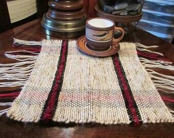 New Zealand Wool Woven Mat -  with Alpaca