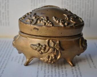 Antique Trinket Box - 1910s Art Nouveau Jewelry Casket