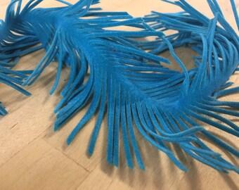 Blue Fringe Suede, Blue fringe