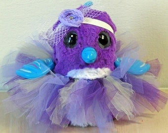 Clothes for HATCHIMALS - Purple Tutu with Headband - fits most hatching egg toys