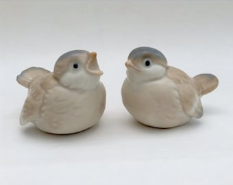 Set of Two Baby Birds, Vintage, Ceramic