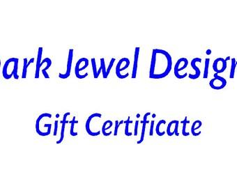 Gift Certificate for Dark Jewel Designs