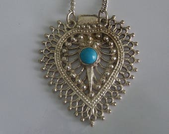 Blue Stone Abstract Necklace