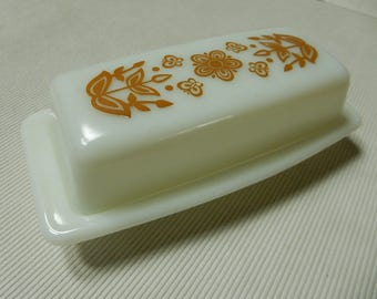 Butterfly Gold Butter Dish
