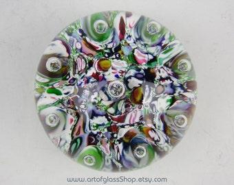 Paul Ysart harlequin glass paperweight
