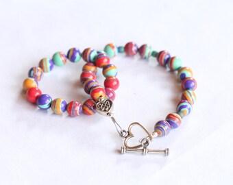 "stocking stuffer kids jewelry / kids birthday / american girl jewelry / bracelets for girls and dolls / 18"" doll jewelry /big sister #1035"