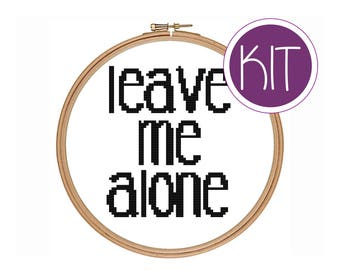 Funny Cross Stitch KIT, Funny Counted Cross Stitch KIT by Peppermint Purple