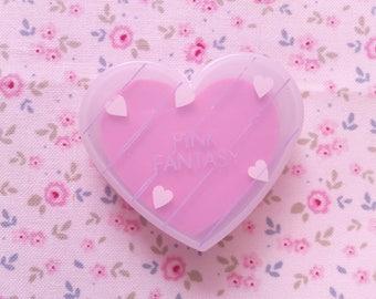 Eraser Heart Box Pink Fantasy Vintage 80s