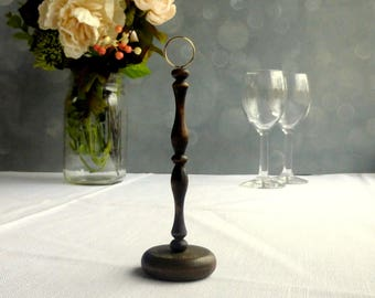 Dark Wood Table Number Holder/ Wedding Table Number Stand, DIY Table Numbers/ Guest Table Numbers