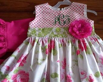 Dress with Ruffle Capri