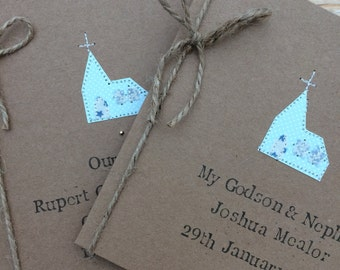 Personalised Christening Card, Handmade Christening Card - Boy