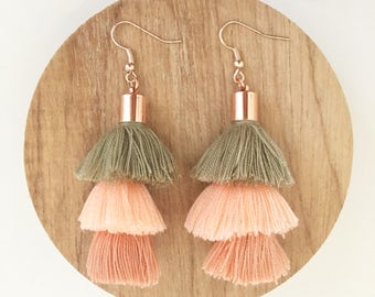 Gigi Three Tassel Earrings