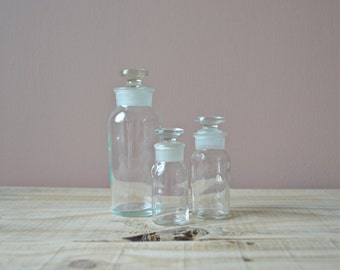 Old Glass Apothecary Bottle, Wheaton Glass Company, TCW Co, 6 inch, Vintage Glass Bottle