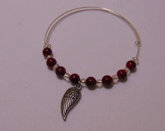 Wing with Pearls charm Bracelet