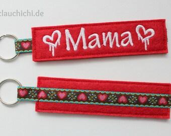 Red Keychain Mama